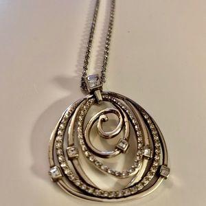 Brighton pendant rhinestone necklace